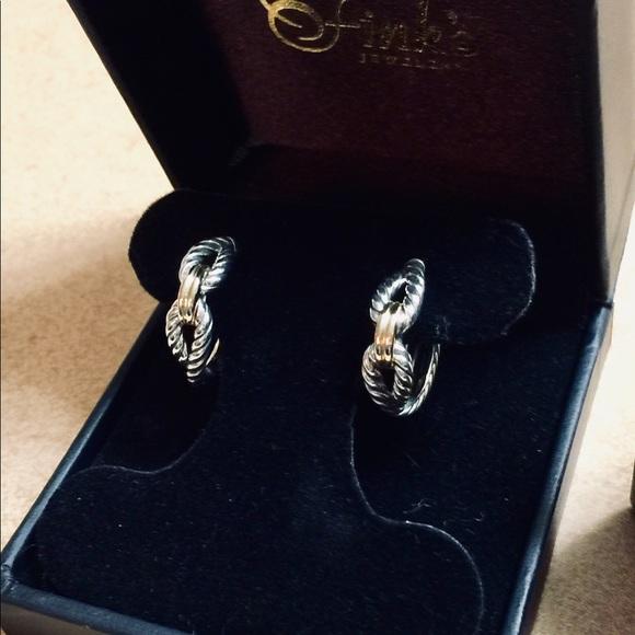 3219575ee David Yurman Jewelry | New Cable Loop Hoops W 18k Gold | Poshmark